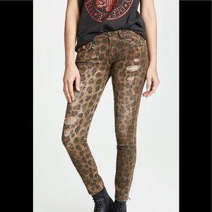 R13 leopard jeans